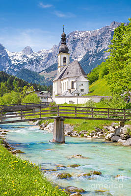 Church Of Ramsau Poster by JR Photography