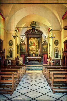 Church Of San Francesco Monterosso Poster by Joan Carroll