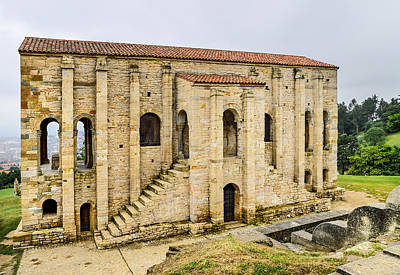 Church Of St Mary At Mount Naranco Year 848 Poster by Guido Montanes Castillo
