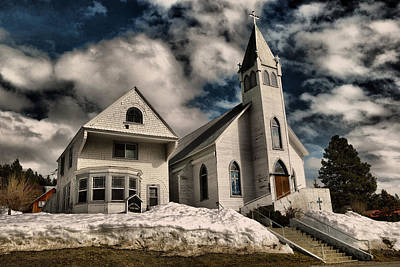Poster featuring the photograph Church Of The Immaculate Conception Roslyn Wa by Jeff Swan