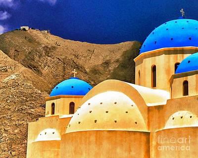 Church Perissa Santorini Greece Poster
