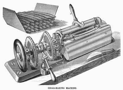 Cigar-making Machine, 1870 Poster by Granger