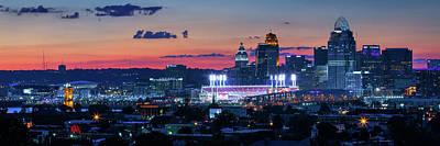 Cincinnati And Sky Pamorama Poster