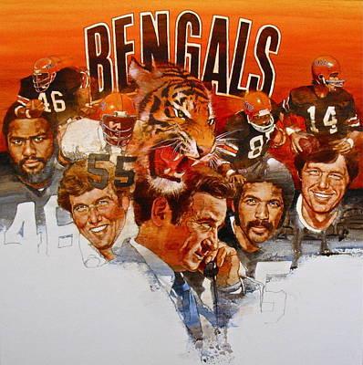 Cincinnati Bengals Poster by Cliff Spohn