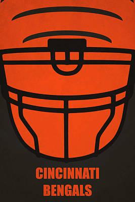 Cincinnati Bengals Helmet Art Poster by Joe Hamilton