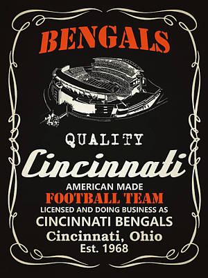 Cincinnati Bengals Whiskey Poster by Joe Hamilton