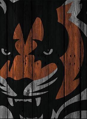 Cincinnati Bengals Wood Fence Poster