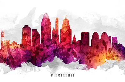 Cincinnati Ohio Cityscape 14 Poster