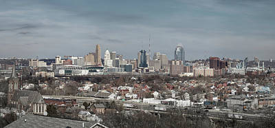 Cincinnati Panorama  Poster by Scott Meyer