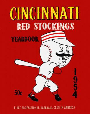 Cincinnati Reds 1954 Vintage Yearbook Poster by Big 88 Artworks