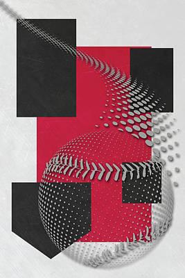 Cincinnati Reds Art Poster by Joe Hamilton