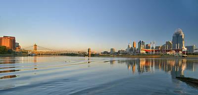 Cincinnati Riverfront Panorama Poster