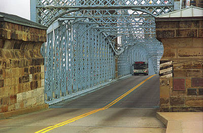 Cincinnati - Roebling Bridge 1 Poster by Frank Romeo