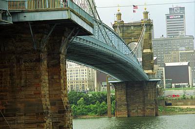 Cincinnati - Roebling Bridge 2 Poster by Frank Romeo
