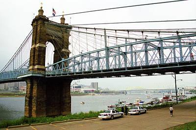 Cincinnati - Roebling Bridge 5 Poster by Frank Romeo