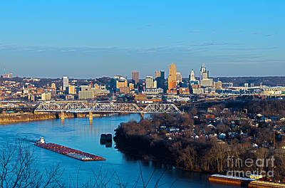 Cincinnati View From The West Poster