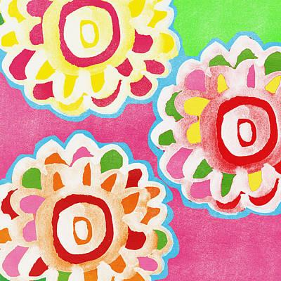 Fiesta Floral 2 Poster by Linda Woods