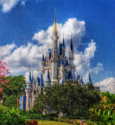 Cinderella Castle Summer Day Poster