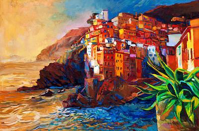 Cinque Terre Coast Poster by Boyan Dimitrov