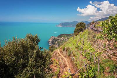 Cinque Terre Italy Vineyard Walk Poster