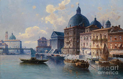 Circle Canal In Venice Poster