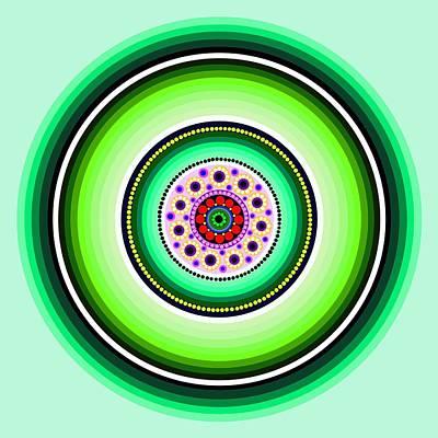 Circle Motif 229 Poster by John F Metcalf