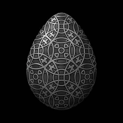 Circle Pattern Steel Egg Poster by Hakon Soreide
