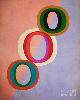 Circles Abstract Poster by Edward Fielding