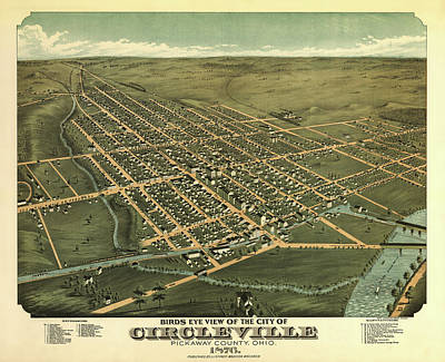 Circleville Ohio 1876 Poster by Mountain Dreams