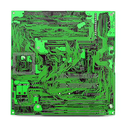 Circuit Board Poster by Cristian M Vela
