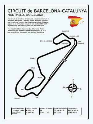 Circuit De Barcelona Catalunya Poster