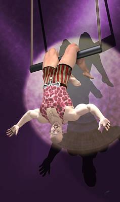 Circus Trapeze Artist Poster by Joaquin Abella