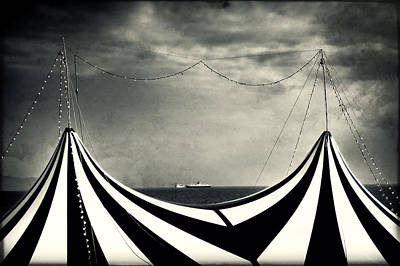 Circus With Distant Ships Poster by Silvia Ganora