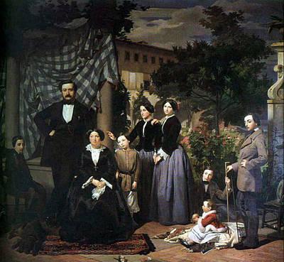 Ciseri Antonio La Famiglia Bianchini 1853 5 Poster