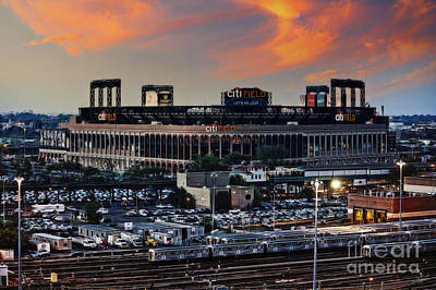 Citi Field Sunset Poster by Nishanth Gopinathan