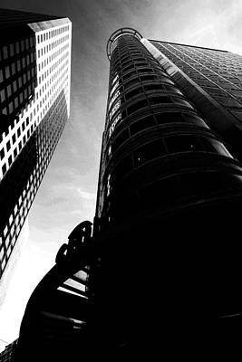 Citibank - Black And White Poster by Wingsdomain Art and Photography