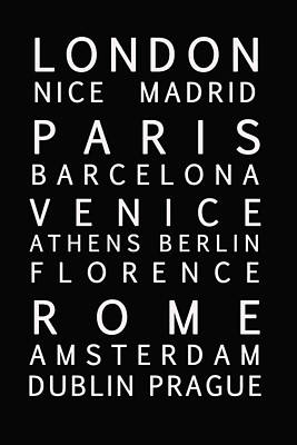 Cities Of Europe Poster by Georgia Fowler