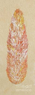 Citrine Tangerine Fire Opal Part Of My Fire Opal Collection By Janet Watson Art Poster