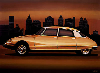 Citroen Ds 1955 Painting Poster by Paul Meijering