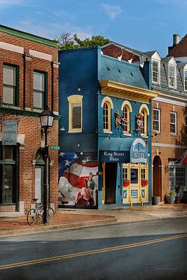 City - Alexandria, Va - King Street Blues Poster by Mike Savad