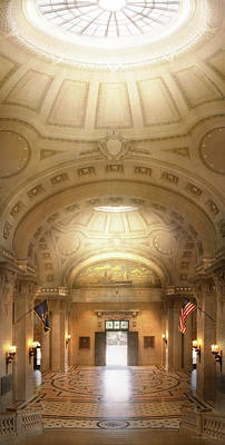 Poster featuring the photograph City - Annapolis Md - Bancroft Hall by Mike Savad