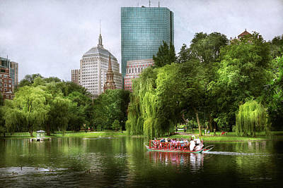 City - Boston Ma - Boston Public Garden Poster by Mike Savad