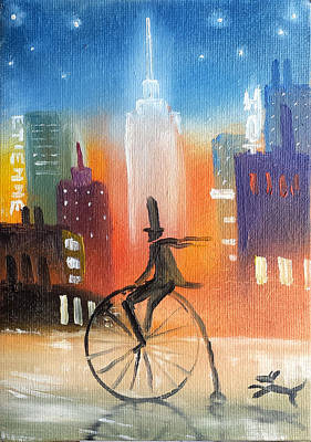 City Cycle In The Wet Streets Poster