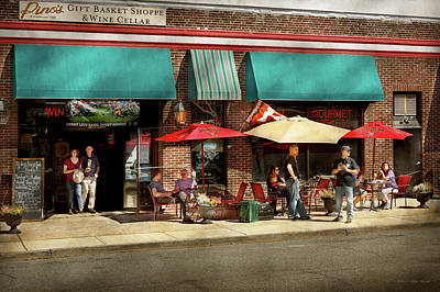 Poster featuring the photograph City - Edison Nj - Pino's Basket Shop by Mike Savad