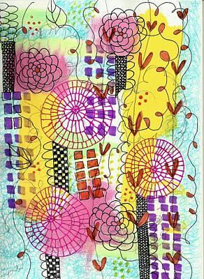 City Flower Garden Poster by Lisa Noneman