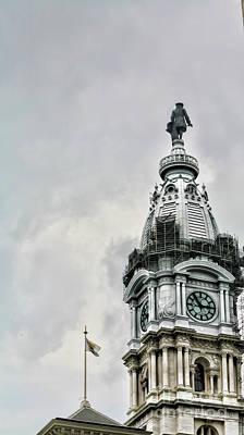 City Hall Ben Franklin Poster