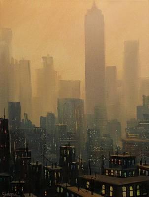 City Haze Poster by Tom Shropshire