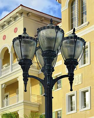 City Lamp Post Poster