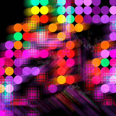 Poster featuring the digital art City Lights by Fran Riley