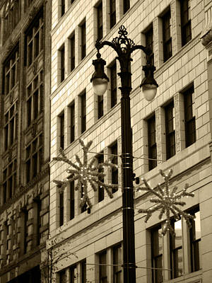 City Lights Poster by Sheryl Burns